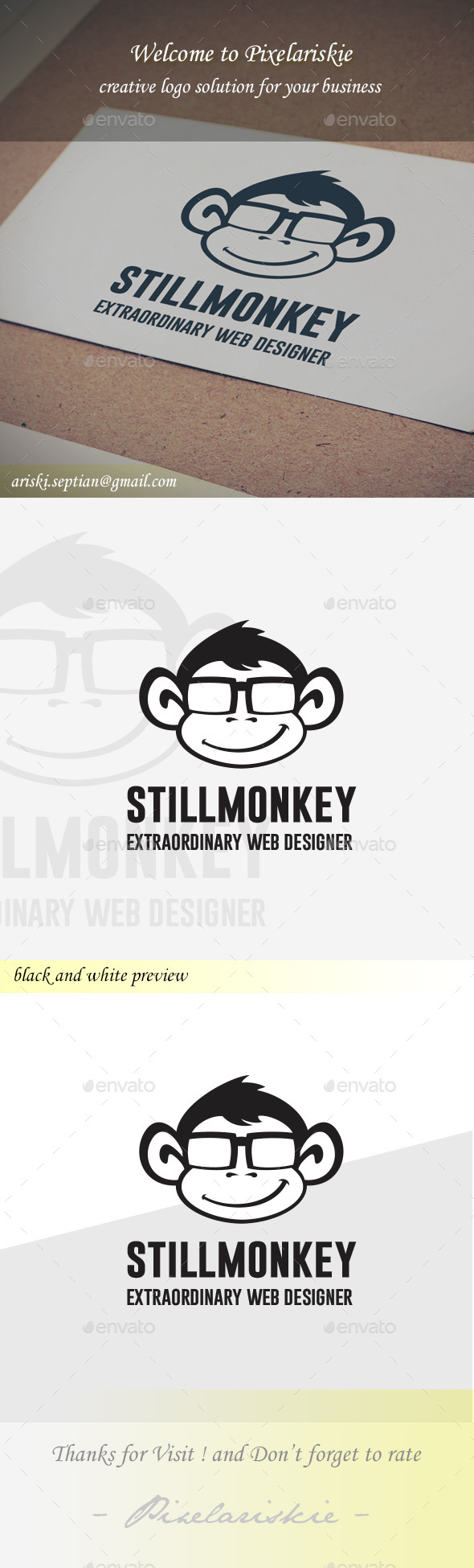 GraphicRiver Monkey Logo 11095333