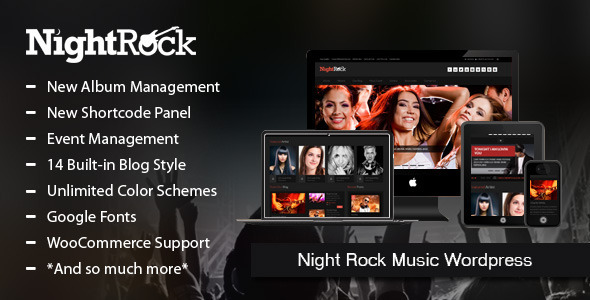 Night Rock Music Wordpress Theme - Nightlife Entertainment