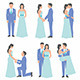 Set of Bride and Grooms - GraphicRiver Item for Sale