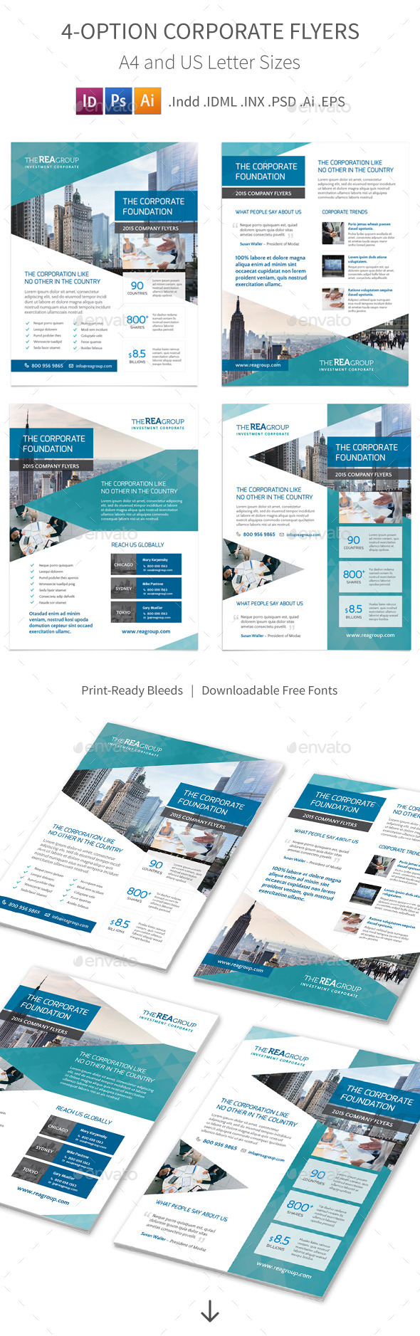 GraphicRiver Corporate Flyers 4 Options 11095660