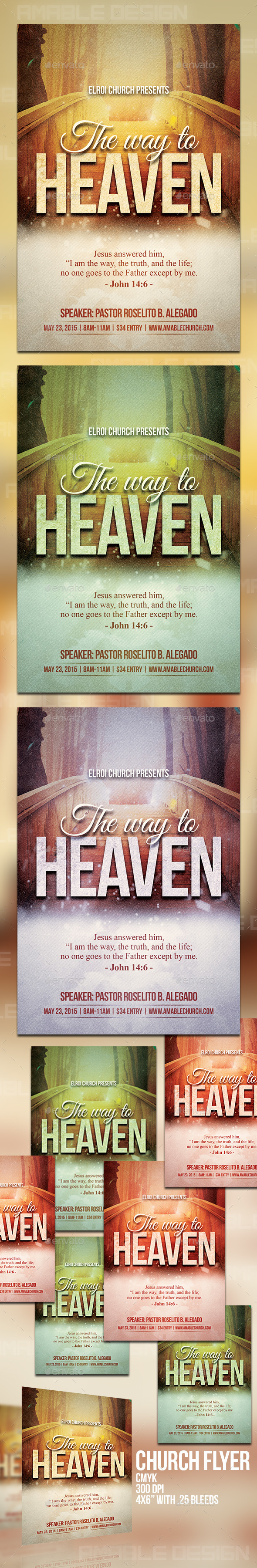 GraphicRiver The Way to Heaven Church Flyer 11095679