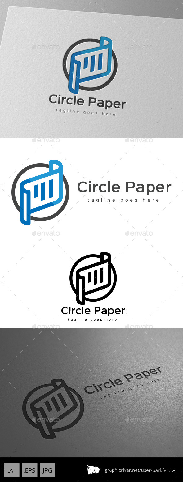 GraphicRiver Circle Paper Logo Design 11095744