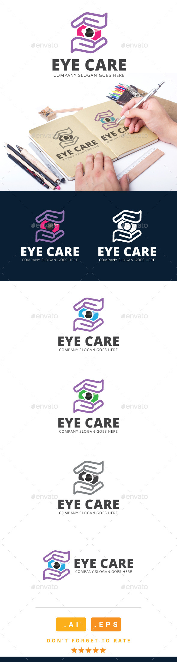 GraphicRiver Eye Care Logo 11095767