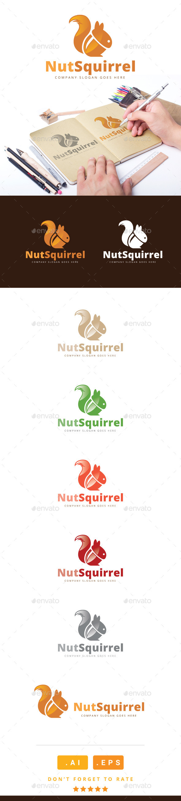 GraphicRiver Nut Squirrel Logo 11095784