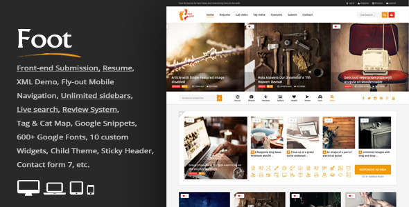 ThemeForest Foot Grid Front-end Submission Content Sharing 11063061