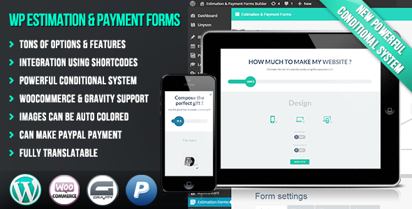 WP Estimation & Payment Forms Builder - CodeCanyon Item for Sale