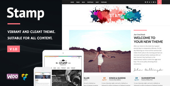 ThemeForest Stamp Vibrant WordPress Theme 10889581