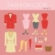 Fashion Female Clothes Set - GraphicRiver Item for Sale