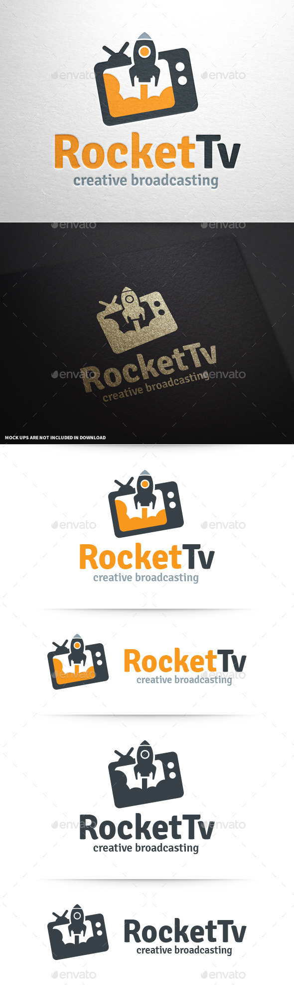 GraphicRiver Rocket TV Logo Template 11096107