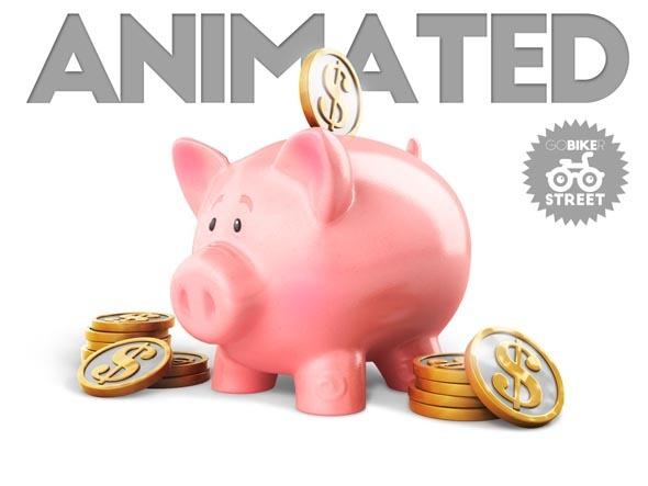 3DOcean Piggy Bank Animated 11096126