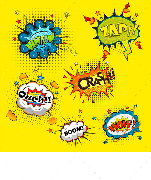 GraphicRiver Comic Speech Bubbles 11096152