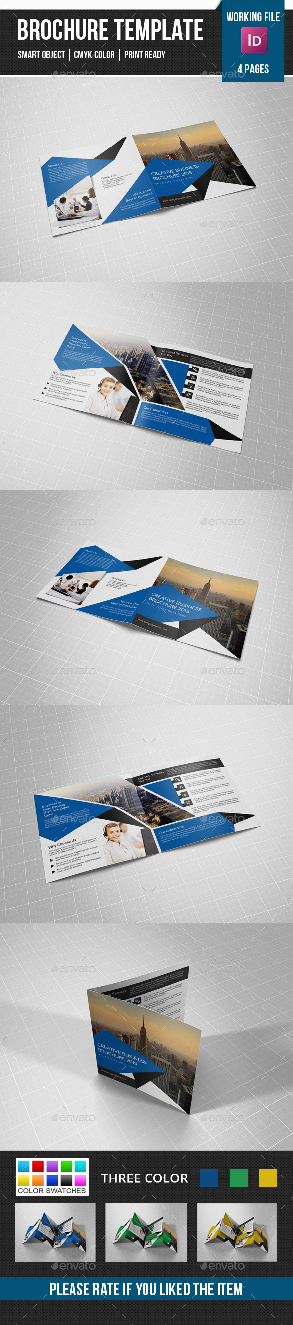 GraphicRiver Square Bifold Brochure-V17 11096235