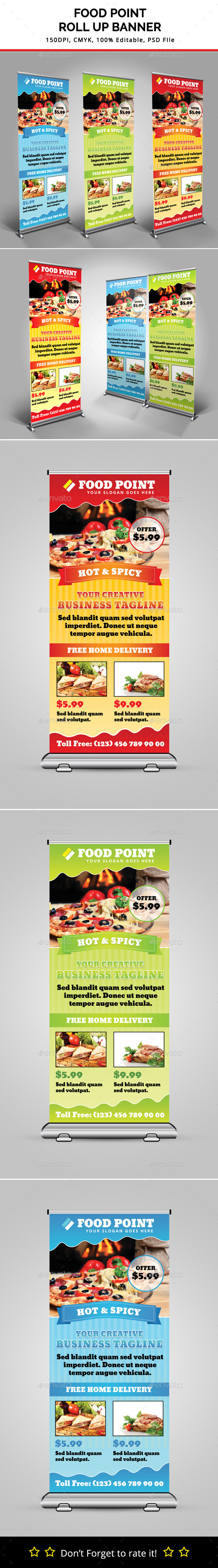 GraphicRiver Food Point Roll Up Banner 11096240