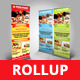 Food Point Roll Up Banner - GraphicRiver Item for Sale