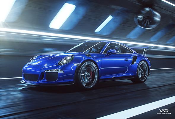 3DOcean Porsche 911 GT3 RS Octane Render Scene 11096548