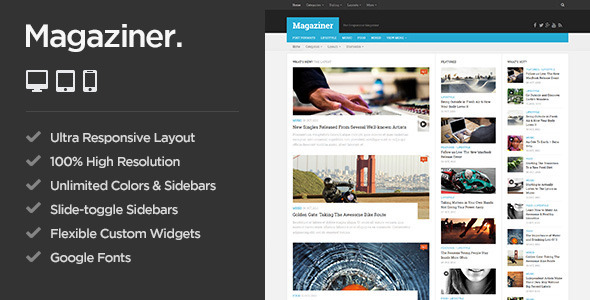 ThemeForest Magaziner Responsive WordPress Magazine Theme 10993690