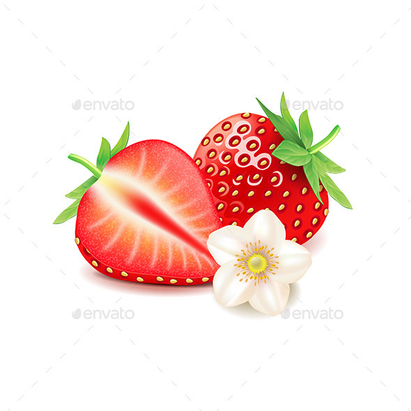 GraphicRiver Strawberry and Slice 11096891