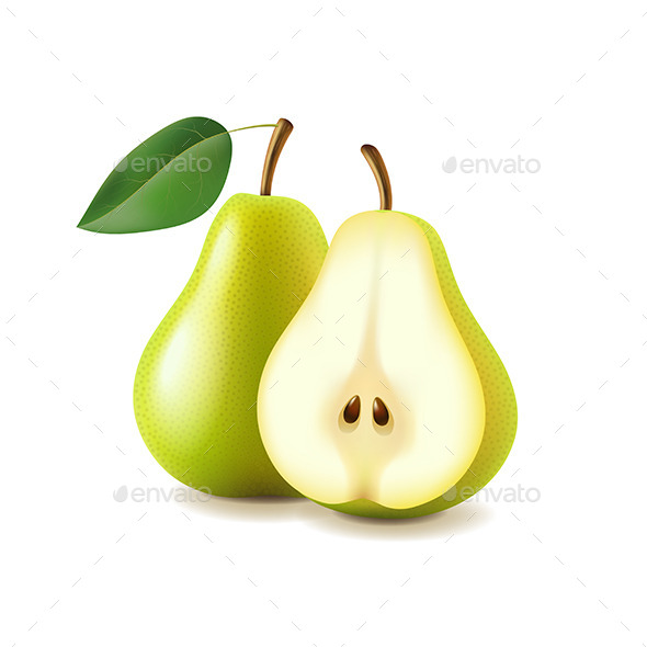 GraphicRiver Pear and Slice 11096893