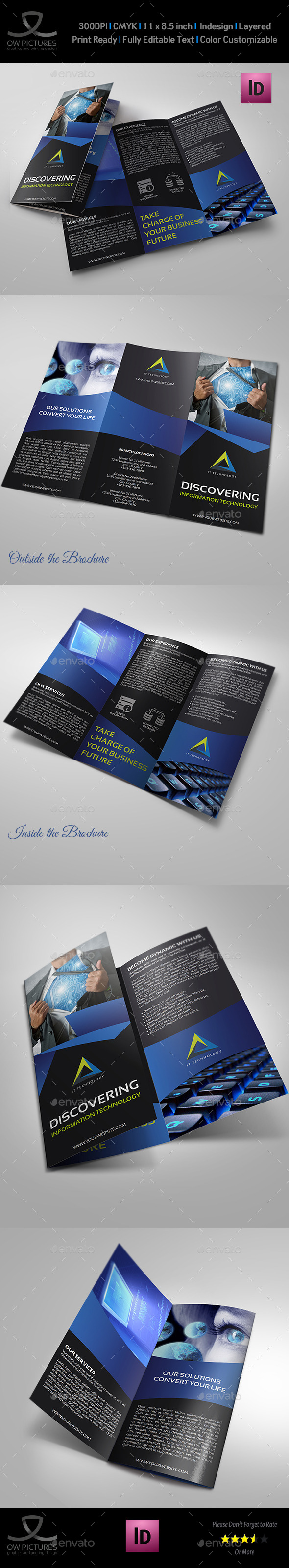 GraphicRiver IT Business Tri-Fold Brochure Template 11096967