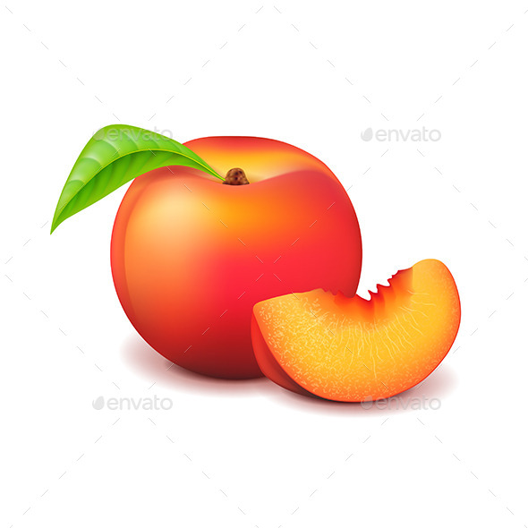 GraphicRiver Peach and Slice 11097006