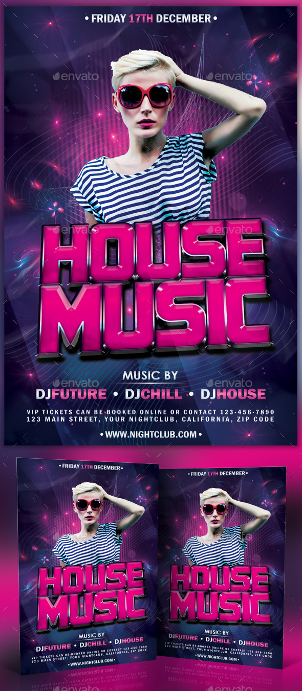 GraphicRiver House Music Flyer Poster 11097064