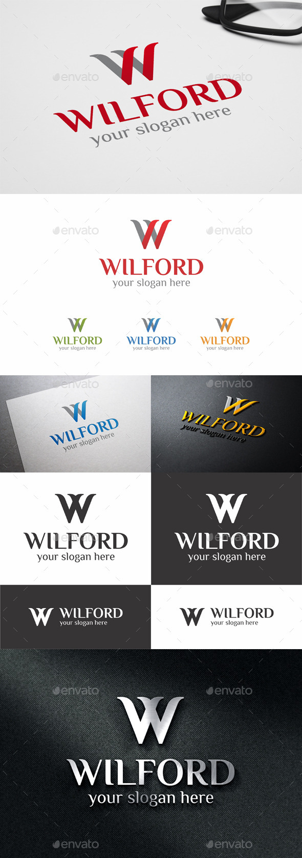 GraphicRiver W Logo Template Letter Design 11097310