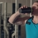 Muscular Man Drinking Water After a Grueling - VideoHive Item for Sale