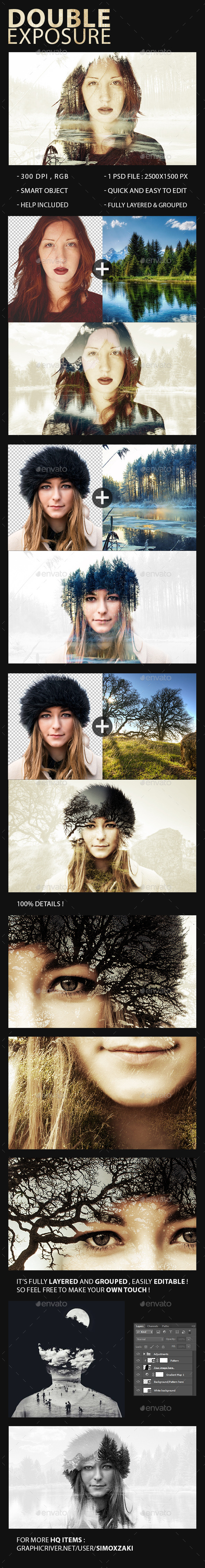 GraphicRiver Double Exposure Maker 11097407
