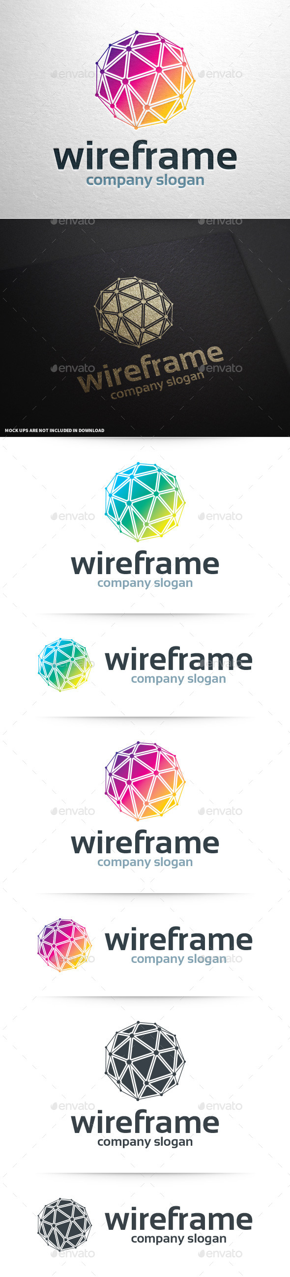 GraphicRiver Wireframe Logo Template 11097452
