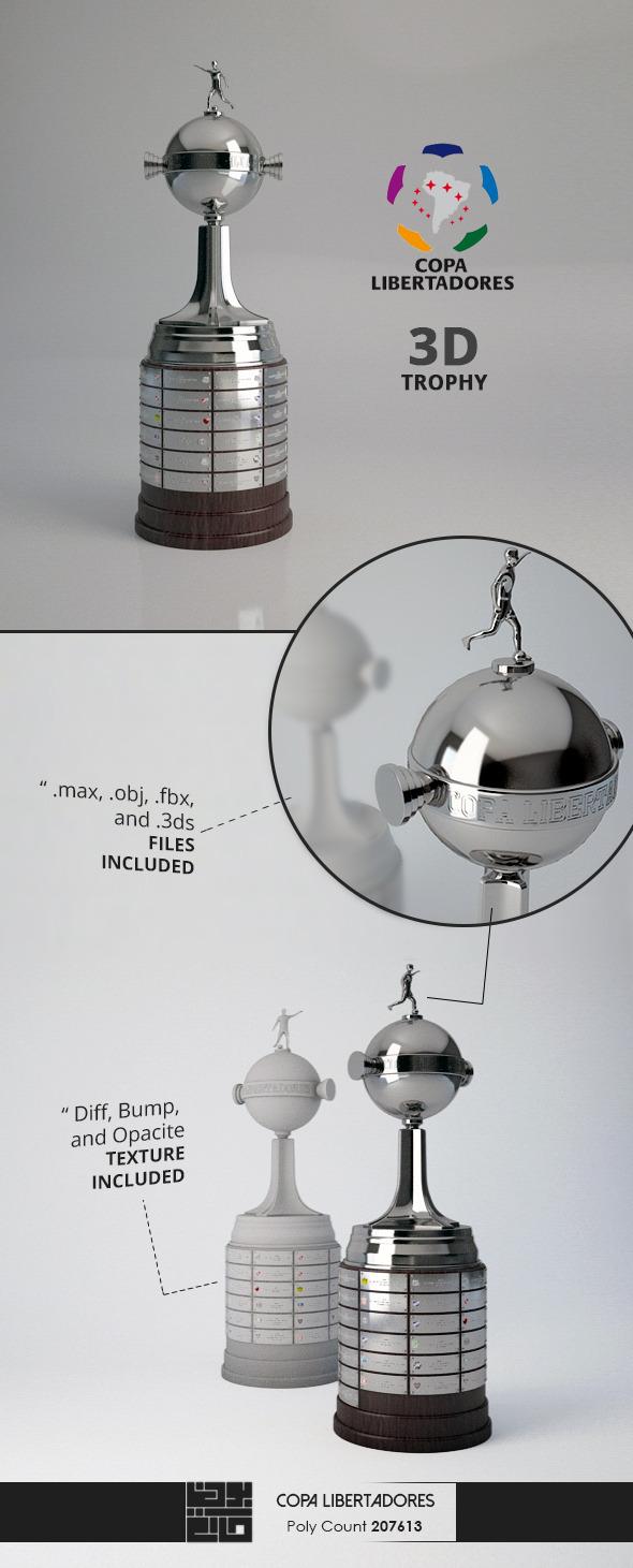 3DOcean Copa Libertadores Trophy 3D Model 11097635