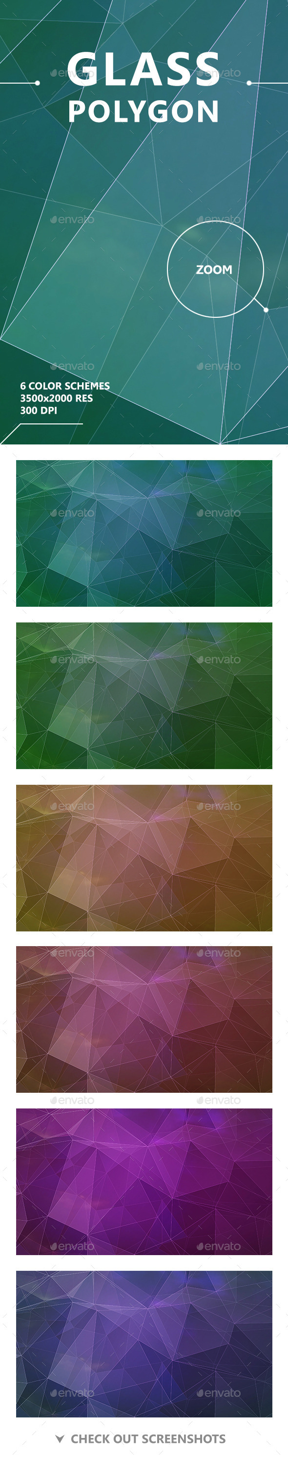 GraphicRiver Glass Polygon Backgrounds 11097835