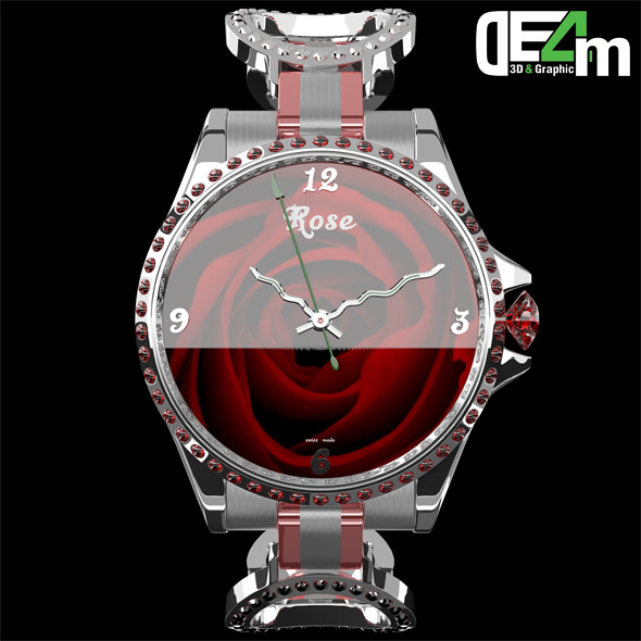 3DOcean Watch Rose 11097863