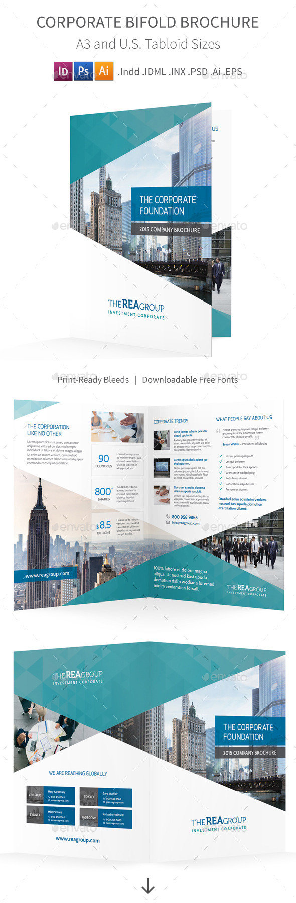 GraphicRiver Corporate Bifold Halffold Brochure 11097882