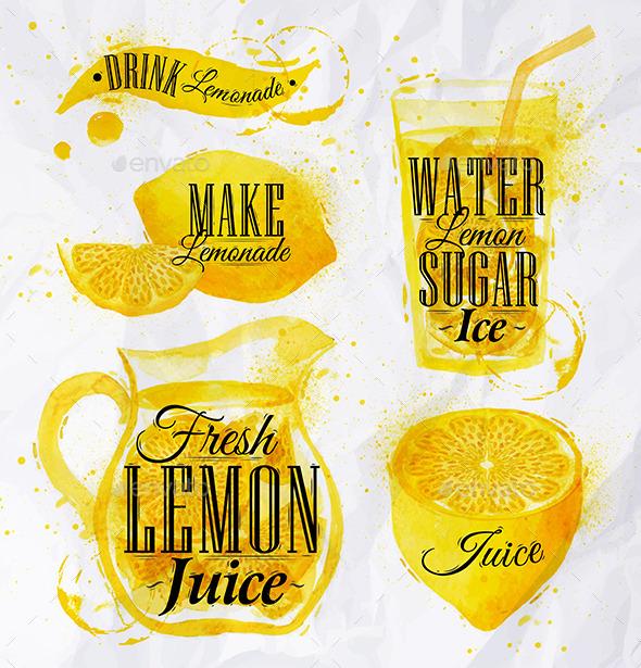 GraphicRiver Watercolor Lemonade 11097912