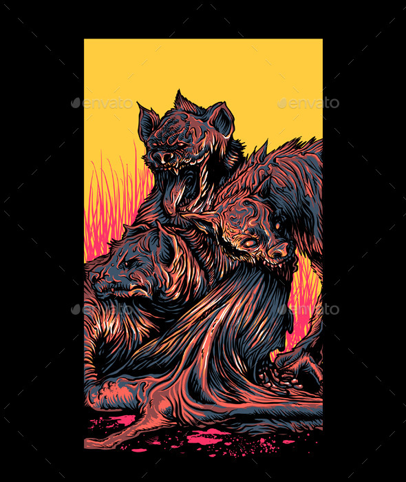 GraphicRiver Hyena Feast 11098000