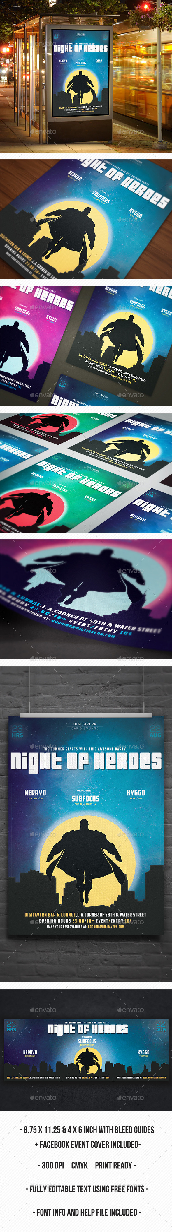 GraphicRiver Superhero Themed Poster Flyer II 11098024