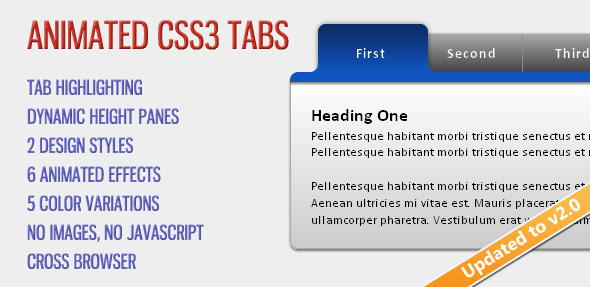 Animated CSS3 Tabs - CodeCanyon Item for Sale
