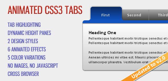 CodeCanyon Animated CSS3 Tabs 126965