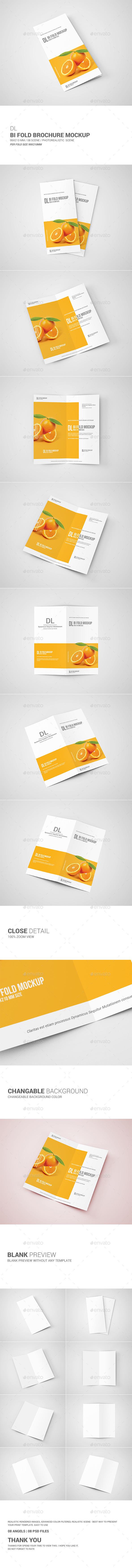 GraphicRiver DL Bi-Fold Brochure Mockup 11098037