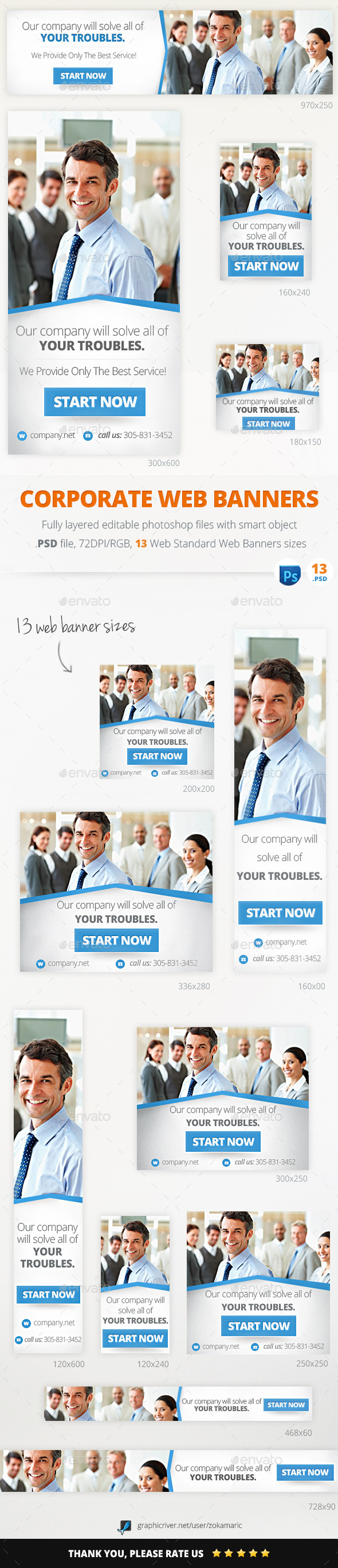 GraphicRiver Corporate Marketing Web Banners 11098070