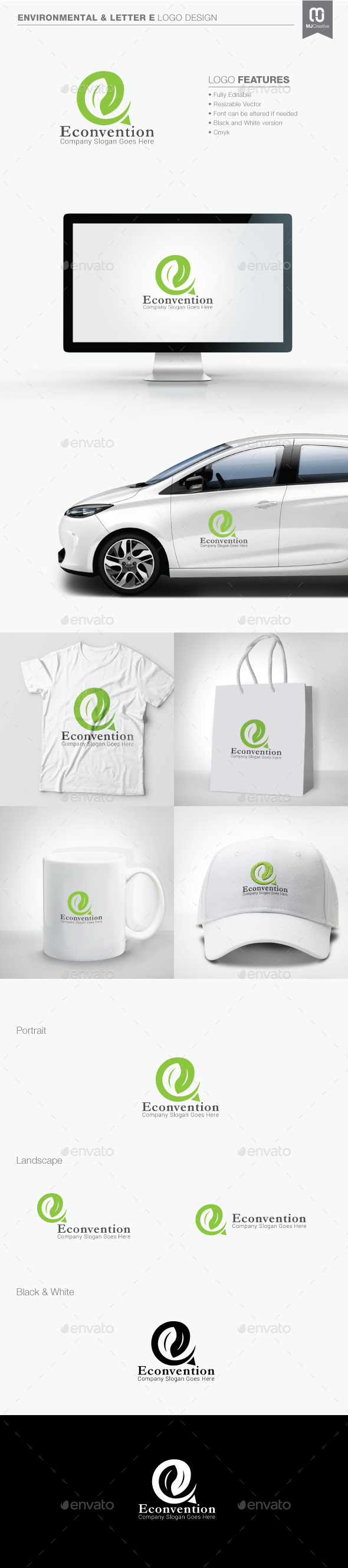 GraphicRiver Environmental and Letter E Logo 11098117