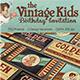 Vintage Kids Birthday Invitation - GraphicRiver Item for Sale