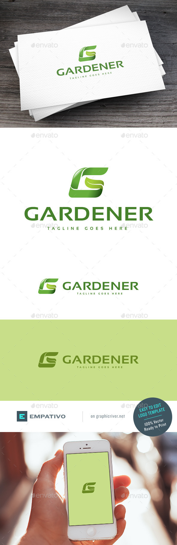 GraphicRiver Gardener Logo Template 11098252