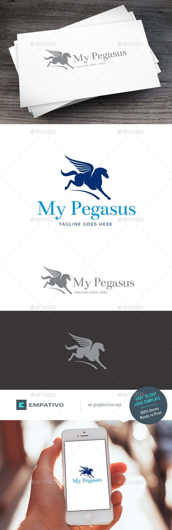 GraphicRiver Pegasus Logo Template 11098352