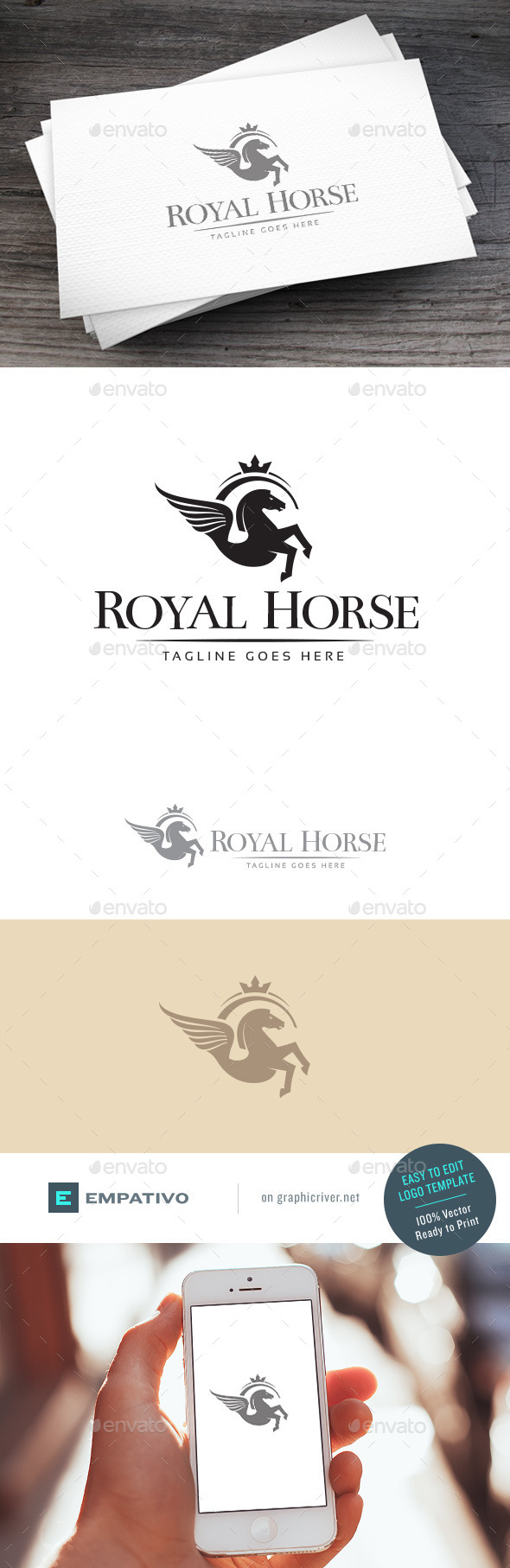 GraphicRiver Royal Horse Logo Template 11098363