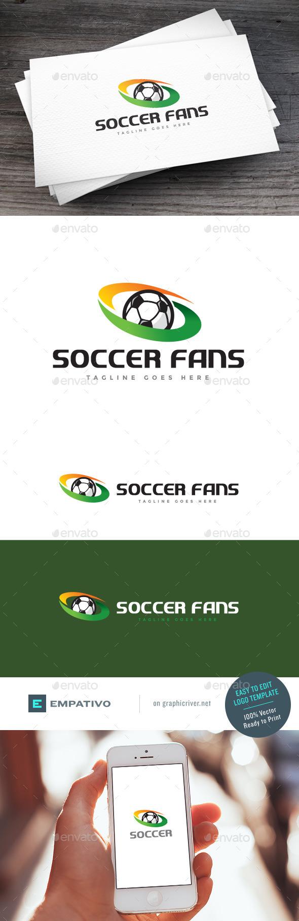 GraphicRiver Soccer Fans Logo Template 11098378