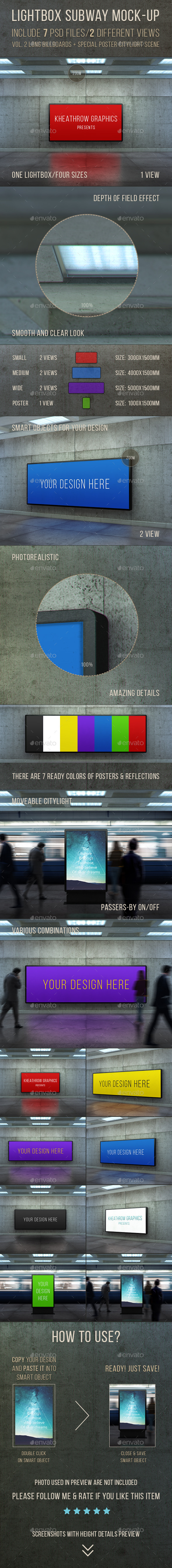 GraphicRiver Poster Urban Subway Lightbox Billboards Mock-ups 11098982