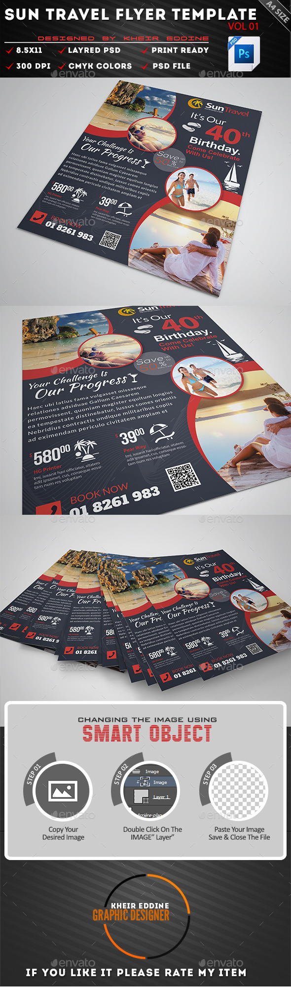 GraphicRiver Sun Travel Flyer Vol 01 11098979
