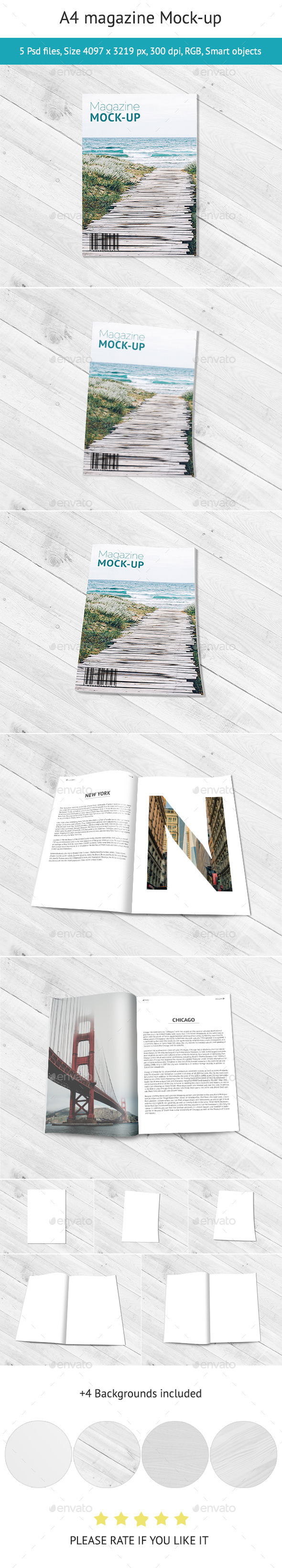GraphicRiver A4 Magazine Mock-up 11099181