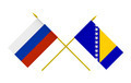Flags of Bosnia and Herzegovina and Russia - PhotoDune Item for Sale